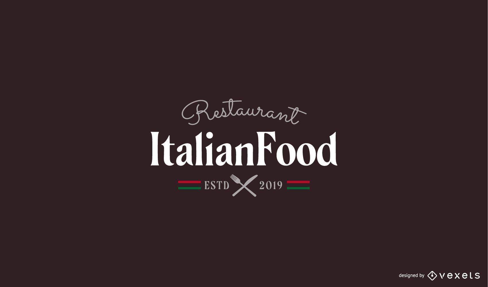 Italian restaurant logo template