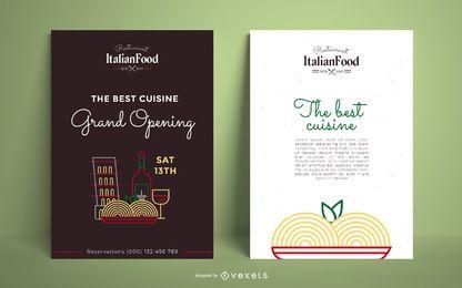 Plantilla de póster de restaurante italiano