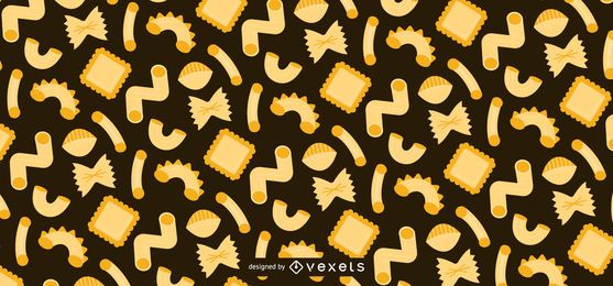 Diseño de patrón plano de pasta
