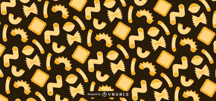 Pasta flat pattern design