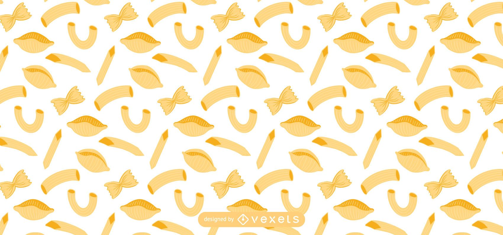 Flat pasta pattern design