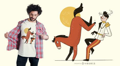 Horse kicking prince t-shirt design