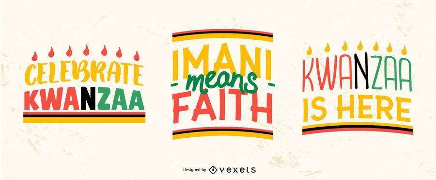 Kwanzaa Schriftzug Set