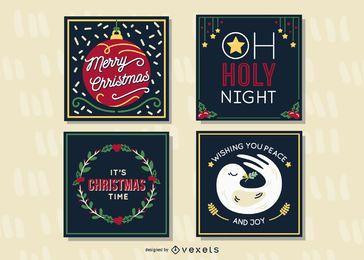 Paquete de tarjetas de navidad