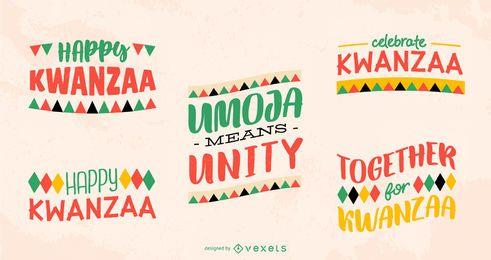 Kwanzaa Schriftzug Pack