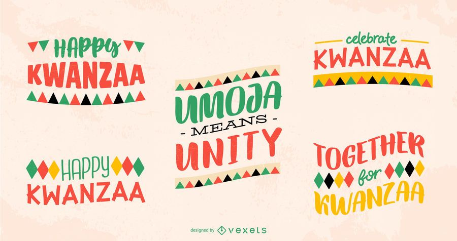 Kwanzaa lettering pack