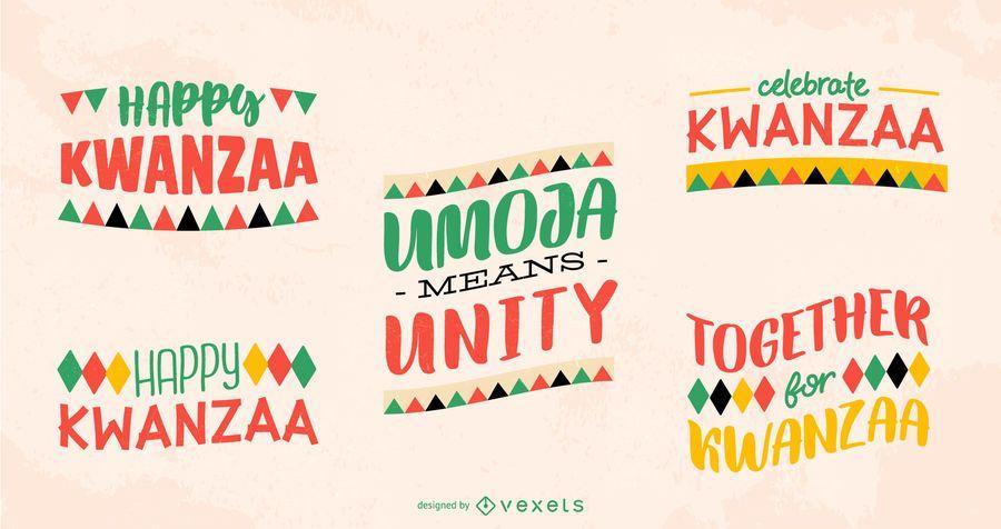 Paquete de letras Kwanzaa