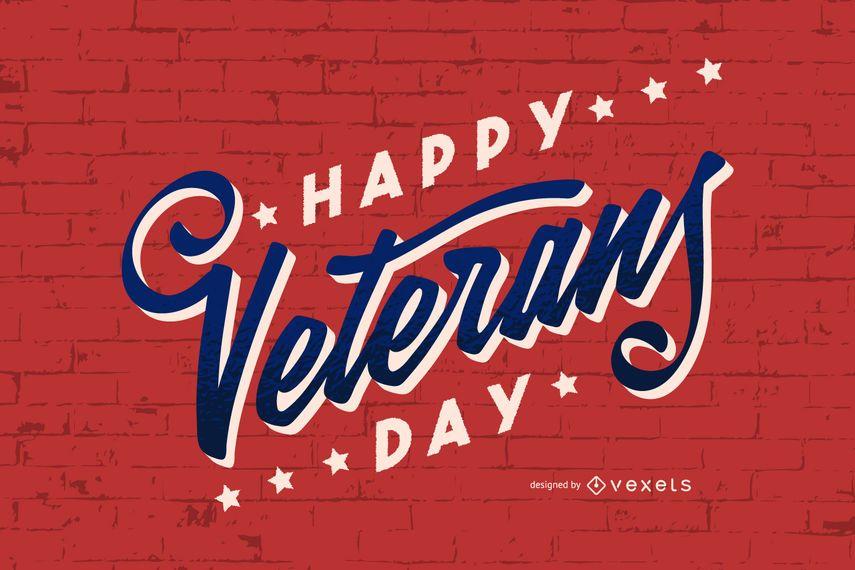 Veterans day lettering design