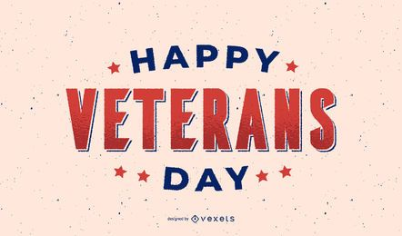 Happy veterans day lettering