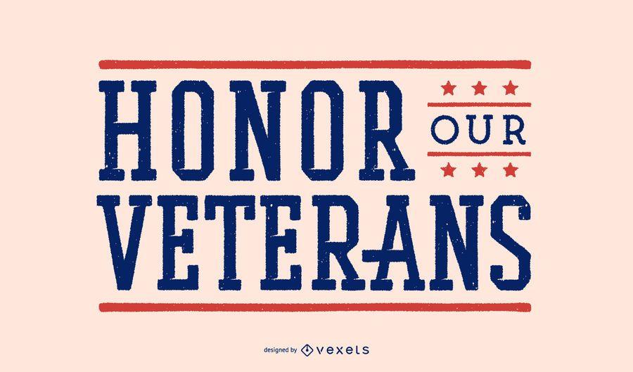 Honre nosso projeto de rotulação de veteranos