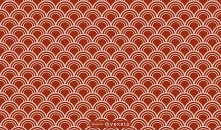 Desenho de padrão geométrico asiático