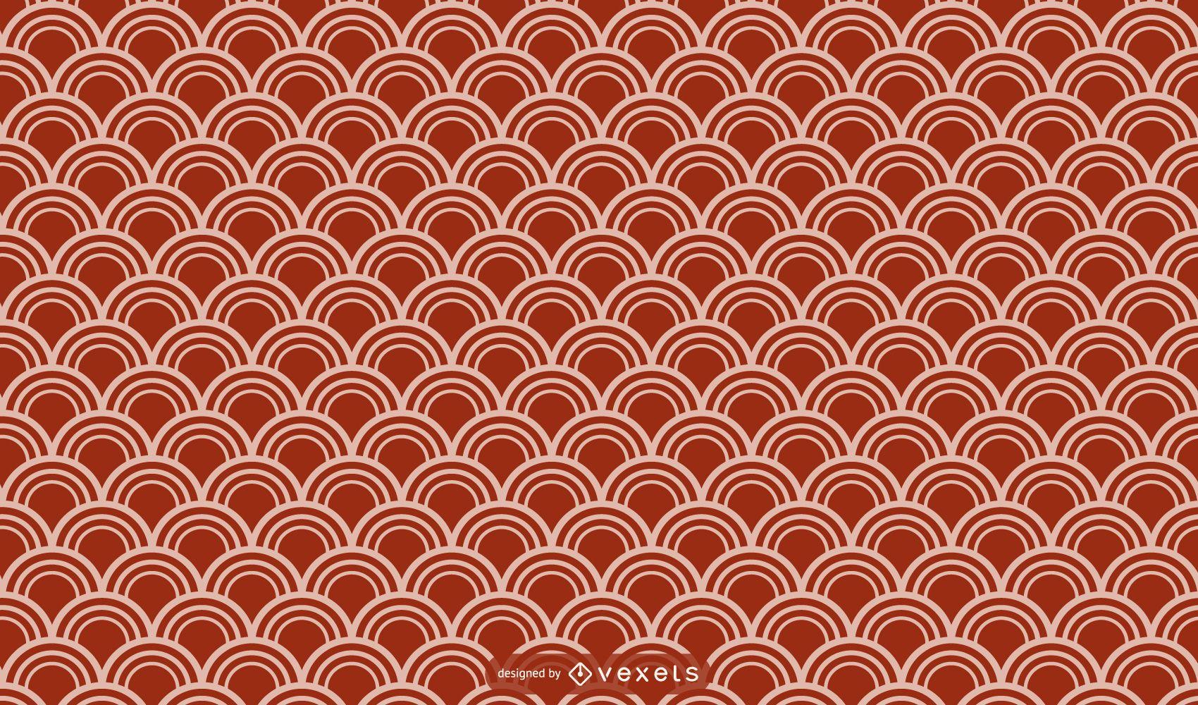 Diseño de patrón geométrico asiático