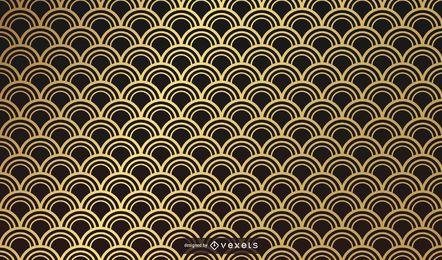 Desenho de padrão dourado asiático