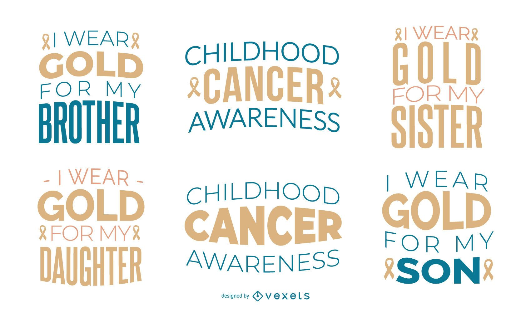 Childhood cancer awareness quote set
