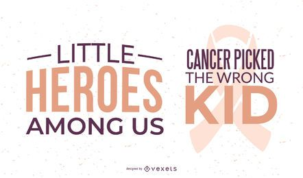 Lettering de conscientização de câncer infantil