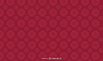 Diseño del patrón geométrico chino