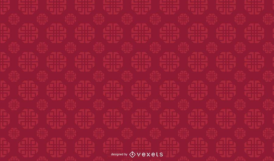 Design de padrão geométrico chinês