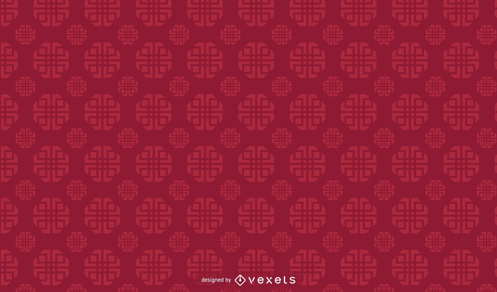 Diseño de patrón geométrico chino