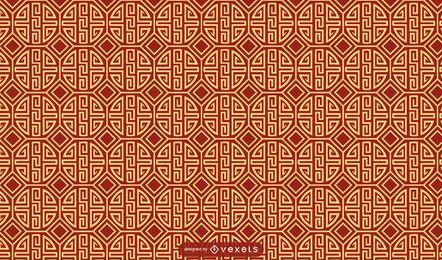 Design padrão chinês tradicional