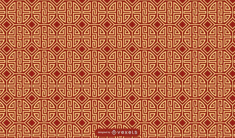 Diseño de patrón tradicional chino