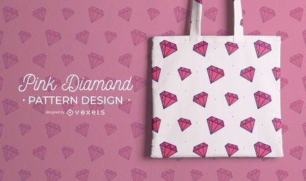 Pink diamond pattern design