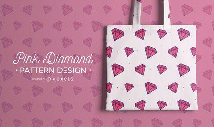 Rosa Diamantmusterentwurf