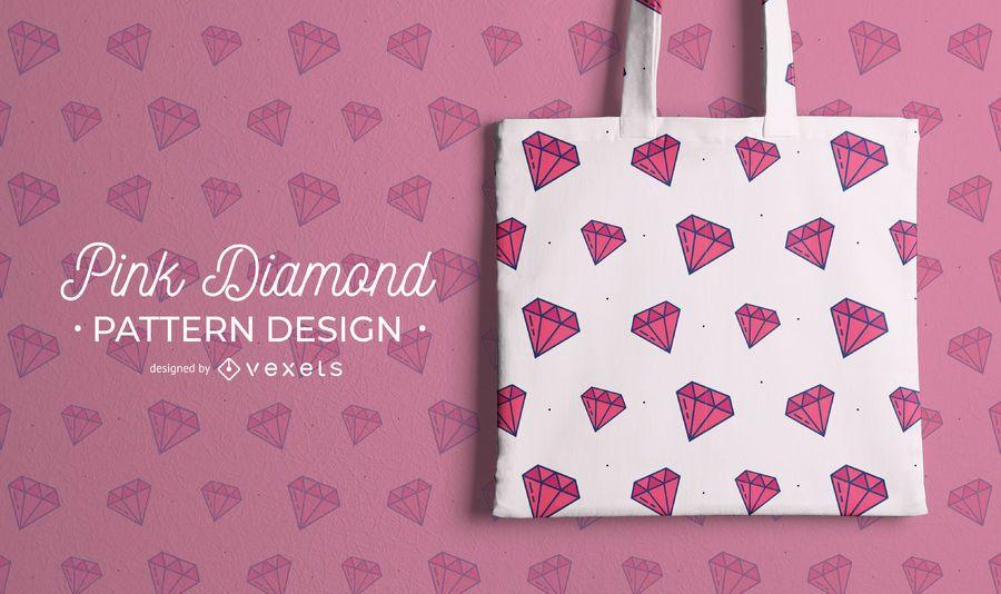 Design de padrão de diamante rosa