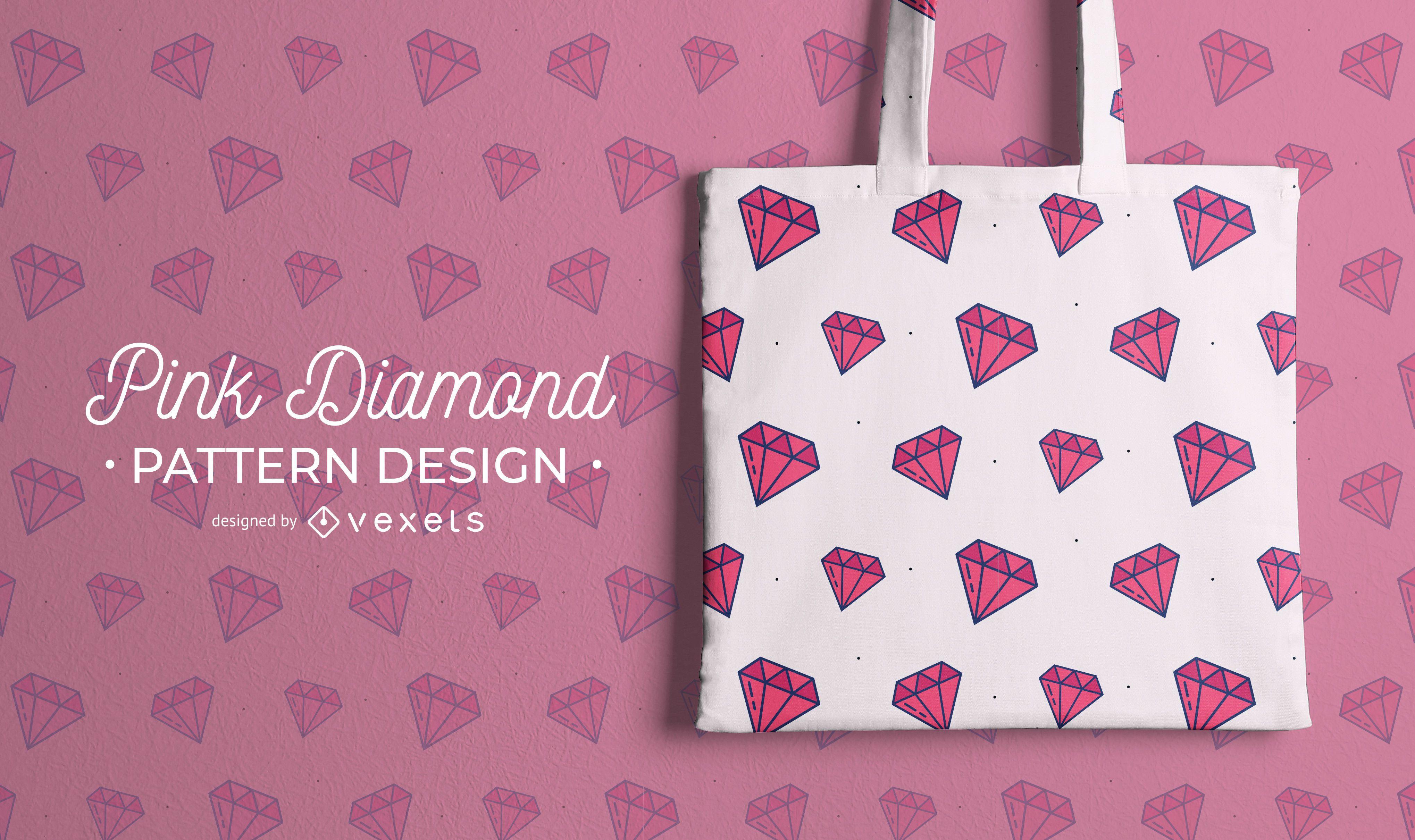 Diseño de patrón de diamante rosa