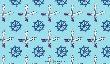 Design de padrão de elementos de pirata