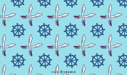 Pirate elements pattern design