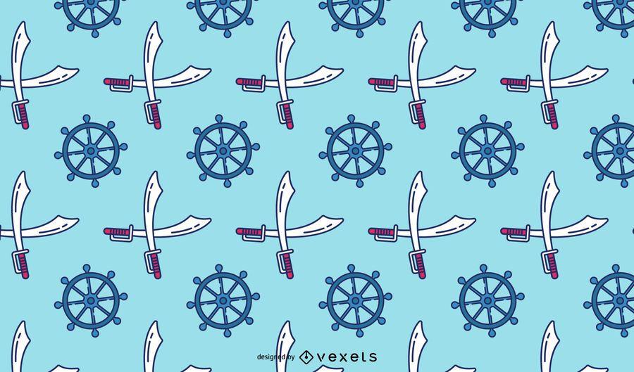 Diseño de patrón de elementos piratas
