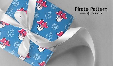 Diseño de patrón enlosables pirata