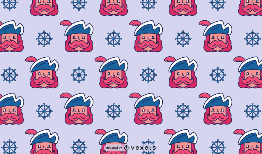 Pirate Cartoon Pattern Design
