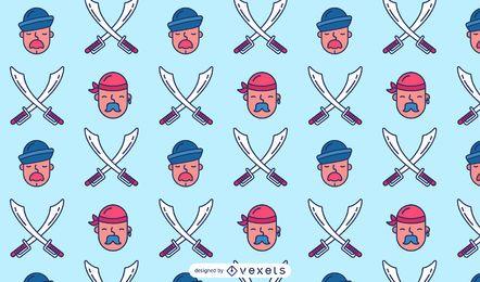 Design de padrão de marinheiro pirata