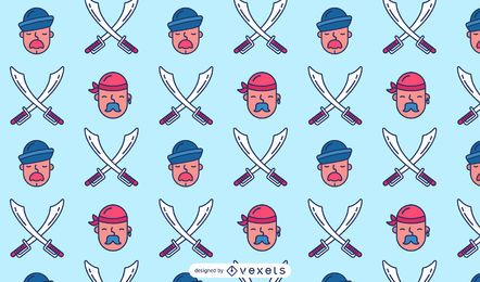 Pirate Sailor Pattern Design