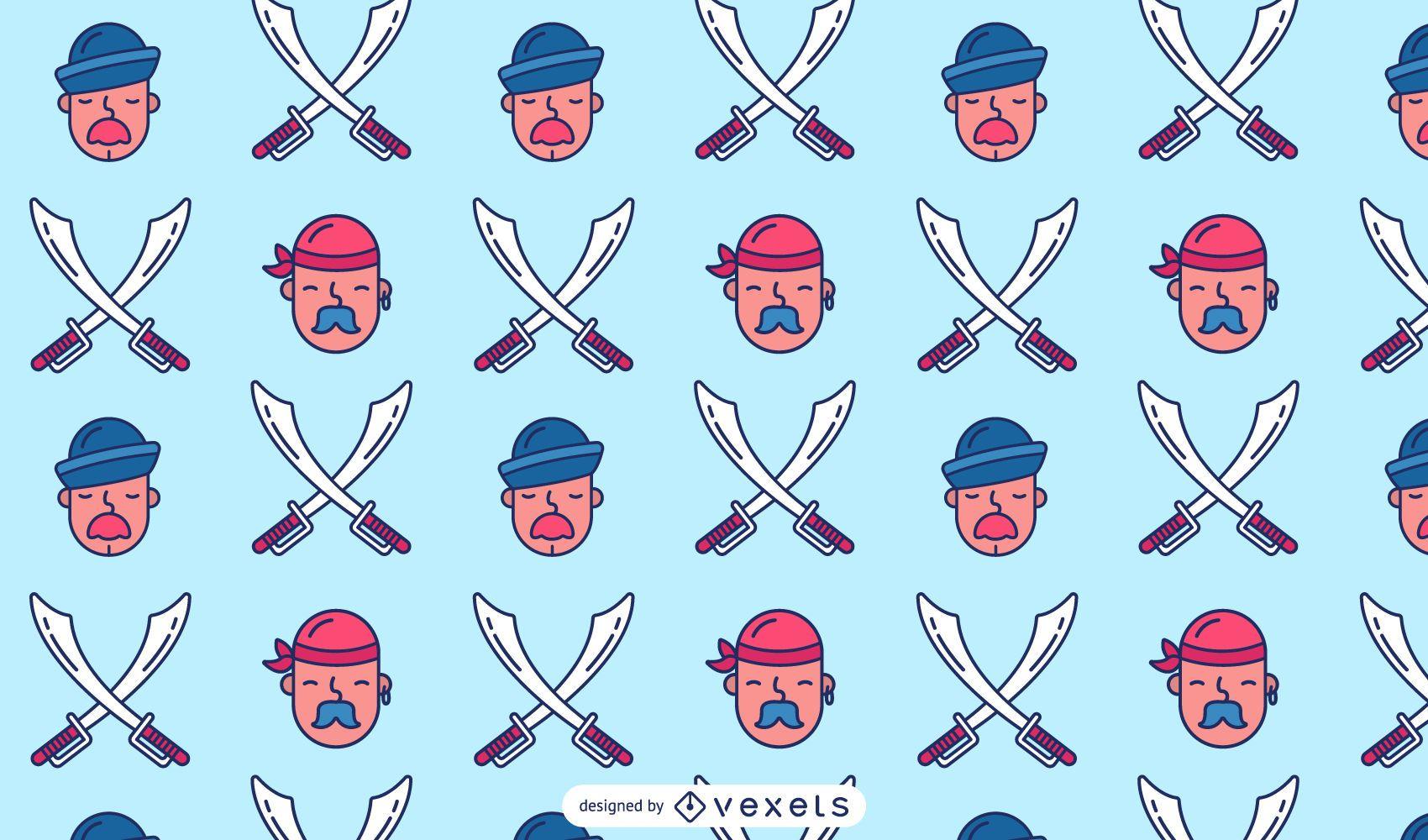 Pirate Sailor Pattern Design