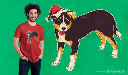 Appenzeller Hundeweihnachtst-shirt Entwurf