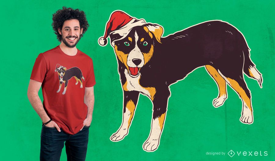 Appenzeller dog christmas t-shirt design