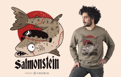Diseño de camiseta Salmonstein