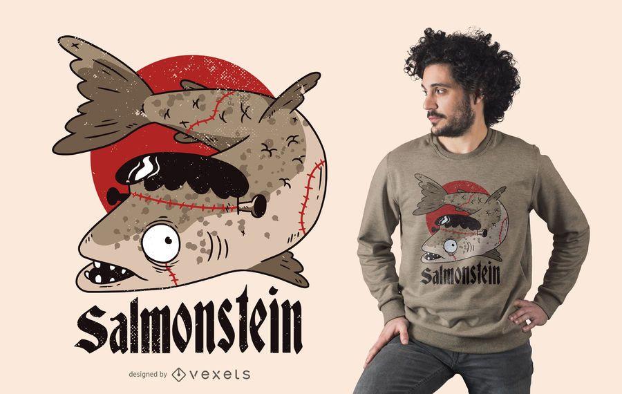 Salmonstein t-shirt design