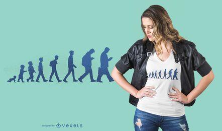 Diseño de camiseta de evolución humana