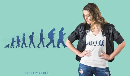 Human evolution t-shirt design