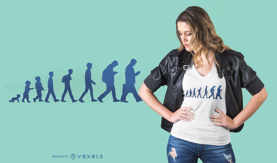 Design de camiseta de evolução humana