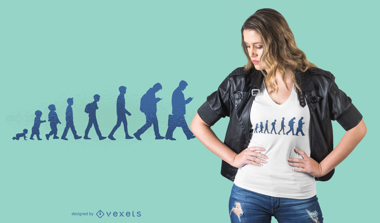 Human evolution t-shirt design