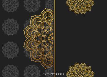 Goldenes Mandala-Hintergrunddesign