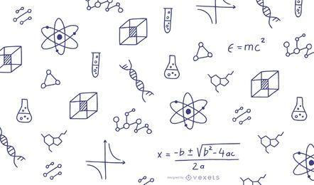 Mathe kritzelt Abbildung
