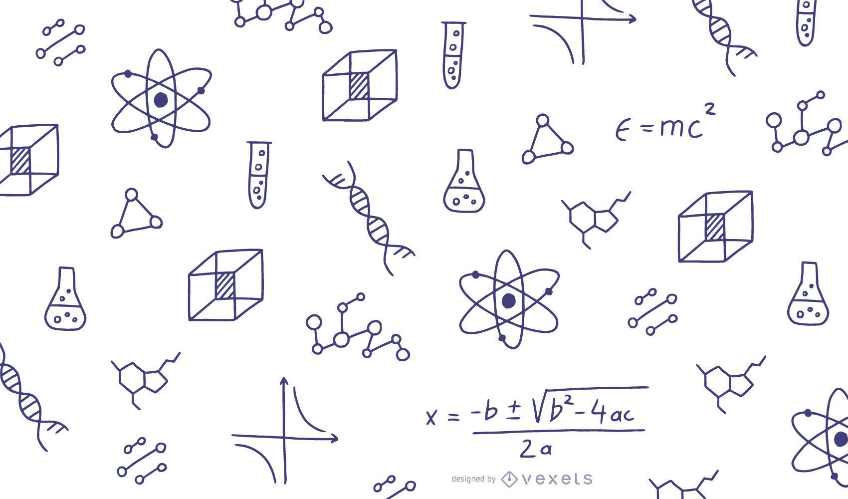 Math doodles illustration