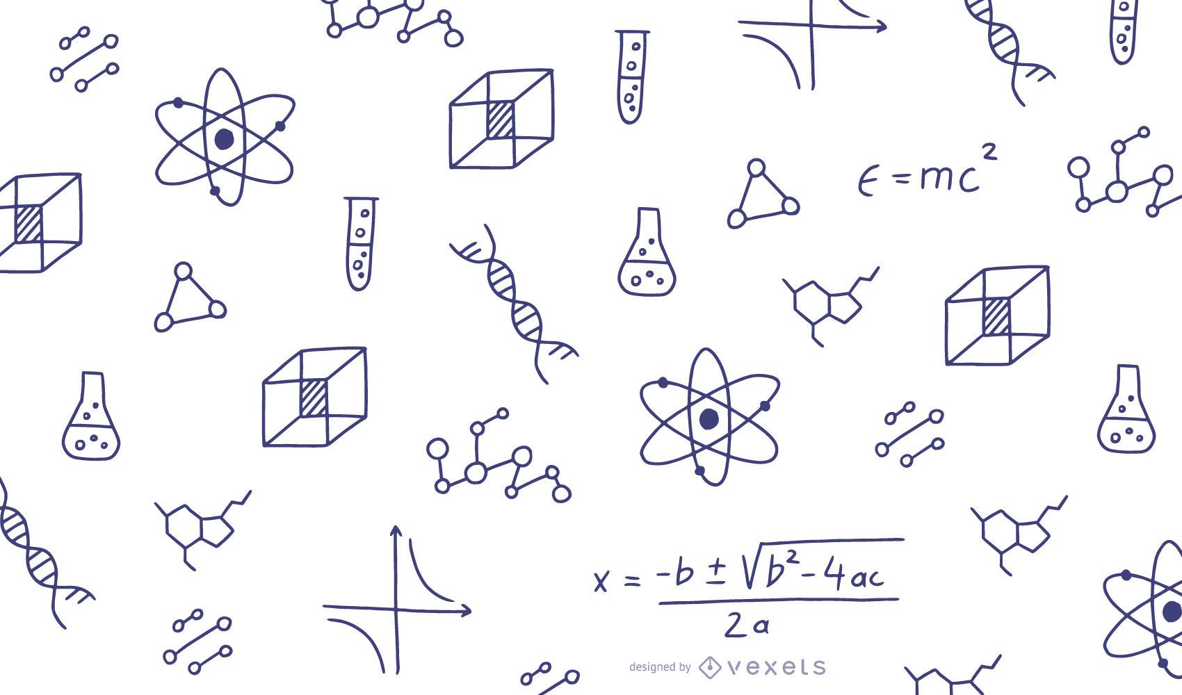 Mathe kritzelt Illustration