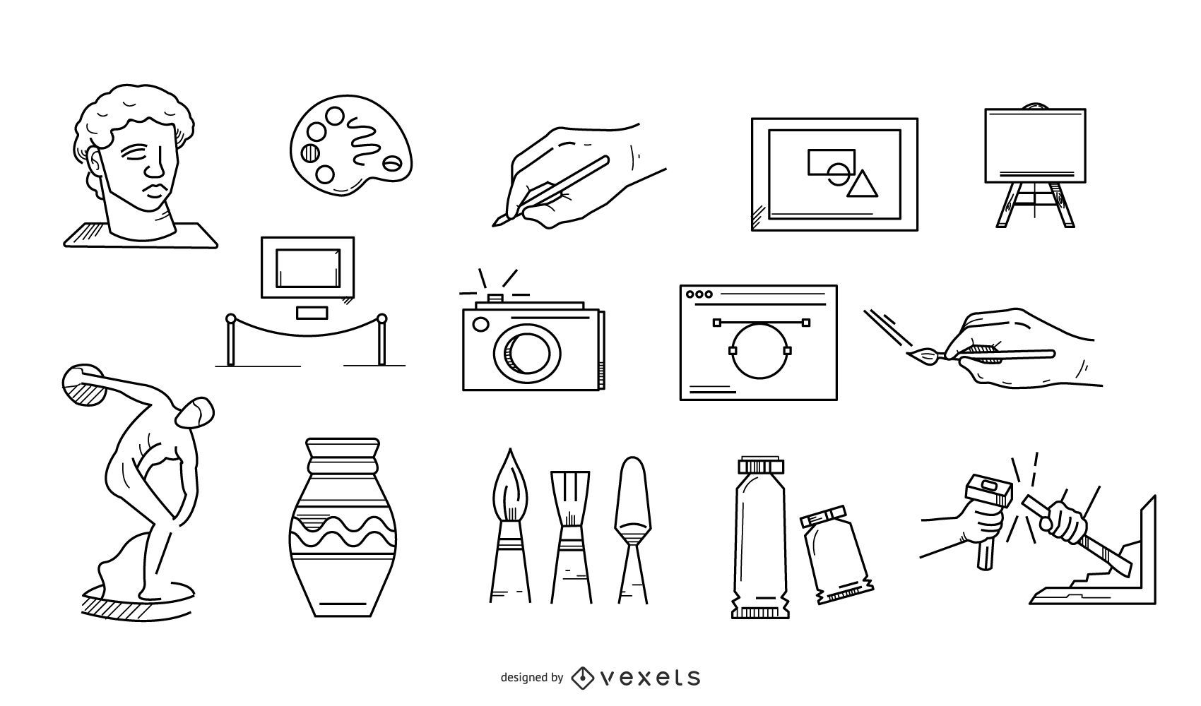 Art Elements Stroke Icon Collection