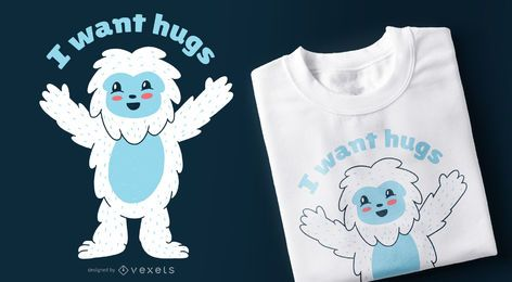 Sasquatch Hugs T-shirt Design